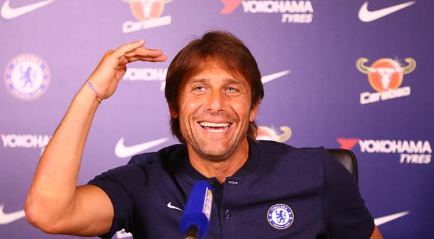 Antonio Conte, manager of Chelsea during a press conference at Cobham Training Ground on August 11, 2017 in Cobham, England. (Photo by Kieran Galvin/NurPhoto via Getty Images)