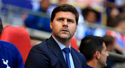 Tottenham Hotspur Manager Mauricio Pochettino during the Pre-Season Friendly match between Tottenham Hotspur and Juventus on August 5, 2017 in London, England. (Photo by Stephen Pond/Getty Images)