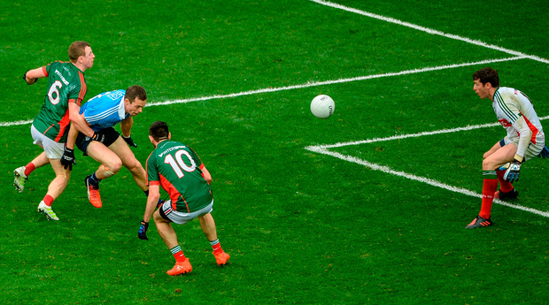 Colm Boyle scores an own goal in last year's final. Photo: Sportsfile