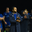 Isa Nacewa of Leinster applauds the supporters with his team mates following the Bank of Ireland Pre-season Friendly match between Leinster and Gloucester at St Mary's RFC in Dublin. Photo by David Fitzgerald/Sportsfile