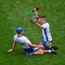 Maurice Shanahan (R) and Austin Gleeson celebrate after Waterford booked their place in the All-Ireland final. Photo: Sportsfile