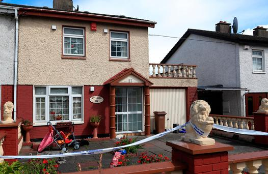 The scene of Wednesday's double murder in Ballymun. Photo: Colin Keegan