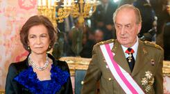 Queen Sofia and King Juan Carlos I of Spain Picture: Getty