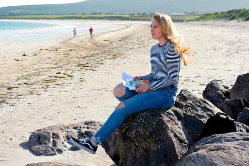 Bobbi Nic Eoin on Ventry beach. Photo: Domnick Walsh