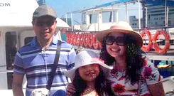 Norman Potot with his wife, Pearly Fernandez Potot and his two children Nathaniel Paul Potot (5) and Nailah Pearl Potot (9).