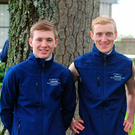 Jockeys Colin Keane, Billy Lee, Ronan Whelan and Donnacha O'Brien with their TRI Equestrian-branded gear for next month's Irish Champions Weekend
