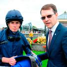 Trainer Aidan O'Brien and Ryan Moore Photo: PA