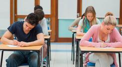 Students sitting their exams (stock image)