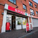The Spar shop on Clogher road, Crumlin which was subjected to an aggravated burglary. Pic:Mark Condren