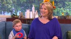Angus Palmes appeared on ITV's this morning with his mum