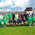 Stefan (centre, back row) with bohemians Football Club and the Irish amputee football team