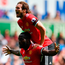 Romelu Lukaku celebrates with team-mate Daley Blind after scoring Manchester United's second goal in the 4-0 win at Swansea City yesterday. Photo: Dan Mullan/Getty Images