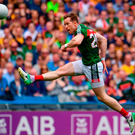 Donal Vaughan is the right call for the job of marking Kieran Donaghy. He is a steely, teak-tough defender when he has to be. Photo: Ramsey Cardy/Sportsfile