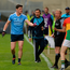 Diarmuid Connolly of Dublin argues with linesman Ciarán Branagan during a match against Carlow which resulted in a 12-week ban. Photo by Daire Brennan/Sportsfile