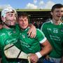 Aaron Gillane, left, and Andrew La Touche Cosgrave of Limerick celebate following the Bord Gáis Energy Munster GAA Hurling Under 21 Championship Final match between Limerick and Cork at the Gaelic Grounds in Limerick. Photo by Stephen McCarthy/Sportsfile