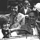 DIDN'T HE DO WELL?: Game show supremo Bruce Forsyth (right), pictured with fellow entertainers Cilla Black and Lionel Blair in Leeds in 1969. Photo: Press Association Wire.