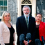 Sinn Féin's Michelle O'Neill, Gerry Adams and Mary Lou McDonald. Photo: PA