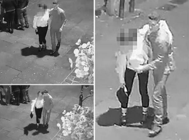 Greater Manchester Police released CCTV footage of a man holding a woman moments before she was raped (Greater Manchester Police)