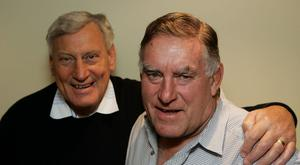 Colin Meads (right), pictured alongside Lions great Willie John McBride, has died CREDIT: GETTY IMAGES