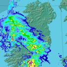 The latest weather chart from Met Eireann