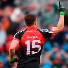 Andy Moran of Mayo after scoring his side's first goal during the GAA Football All-Ireland Senior Championship Semi-Final match between Kerry and Mayo at Croke Park in Dublin. Photo: Sportsfile