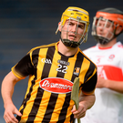 Richie Leahy of Kilkenny after scoring his side's third goal during the Bord Gáis Energy GAA Hurling All-Ireland U21 Championship Semi-Final match between Kilkenny and Derry at Semple Stadium in Tipperary. Photo: Sportsfile