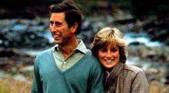 Diana, Princess of Wales, with Prince Charles. Photo: PA