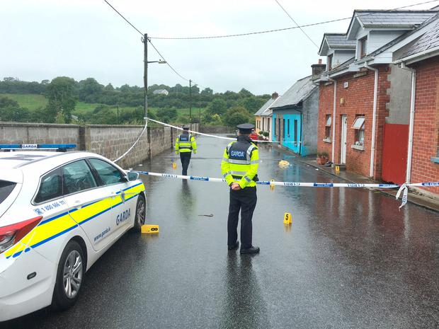 Love Lane in Castlecomer was sealed off by gardai in connection with stabbing incident this weekend