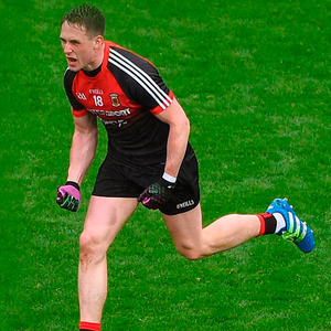 Paul Durcan celebrates his equalising point for Mayo at Croke Park