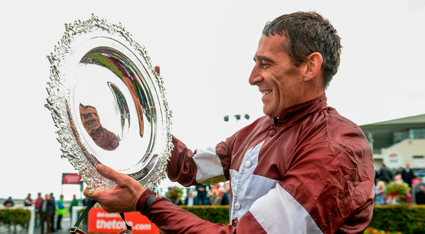 Davy Russell finds himself in hot water after seemingly punching his horse Kings Dolly at Tramore Photo: Sportsfile