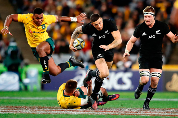 Sonny Bill Williams makes a break during New Zealand's victory over Australia Photo: Getty