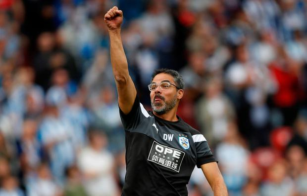Huddersfield Town manager David Wagner rejoices Photo: Reuters