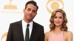 Actor Bobby Cannavale (L) and actress Rose Byrne arrive at the 65th Annual Primetime Emmy Awards held at Nokia Theatre L.A. Live on September 22, 2013 in Los Angeles, California. (Photo by Jeff Vespa/WireImage)