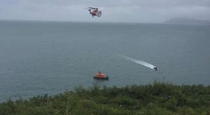The rescue operation pictured from the coast (Photo: Facebook/DunLaoghaire Coast Guard)