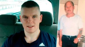 Jamie Hennessy (left) is fighting for life and Gerry Nolan (right) was murdered in 2006