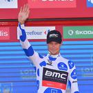 Cycling: 72nd Tour of Spain 2017 / Stage 2 Podium / Nicolas ROCHE (IRL) Polka Dot Mountain Jersey / Celebration / Nimes - Gruissan Grand Narbonne-Aude (203,4km) / La Vuelta / (Photo by Tim de Waele/Corbis via Getty Images)