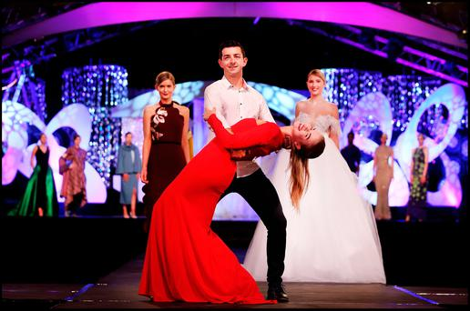 Dancing With The Stars Winner Aidan O'Mahony and Model Siobhan Clifford pictured at the Rose of Tralee Fashion Show at The Dome in Tralee Co. Kerry. Pic Steve Humphreys