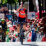 Bahrain- Merida's Vincenzo Nibali performs the 'shark' celebration as he wins the third stage of the Vuelta a Espana. Photo: Getty Images