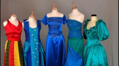 Some of the winning dresses on display at Kerry County Museum