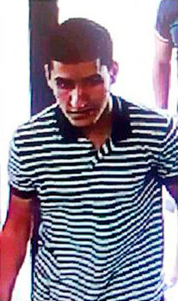 Younes Abouyaaqoub, the suspect at the centre of a major manhunt by police investigating the terror attacks in Catalonia. Photo: AP