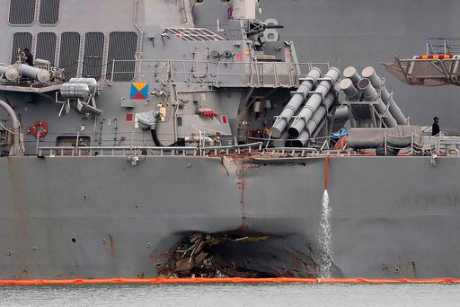 US Navy sacks Admiral in charge of crashed warship