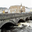The River Garavogue where four gardaí battled high tides