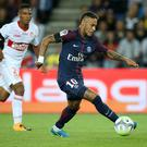 PARIS, FRANCE - AUGUST 20: Neymar Jr of PSG during the French Ligue 1 match between Paris Saint Germain (PSG) and Toulouse FC (TFC) at Parc des Princes on August 20, 2017 in Paris, France. (Photo by Jean Catuffe/Getty Images)
