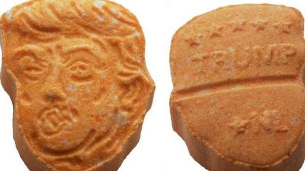 The carrot-coloured pills are being sold across Europe Picture: Osnabruck Police