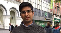 Mohammed Azim Ansari (23) moved to Dublin in September 2016 and struggled to find accommodation