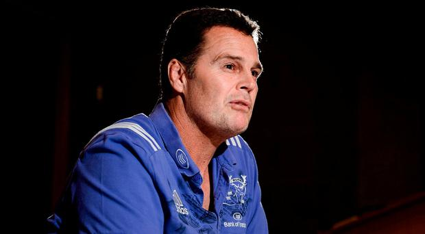 Munster's Rassie Erasmus is likely to face questions about his immediate future at the PRO14 launch today. Photo: Diarmuid Greene/Sportsfile