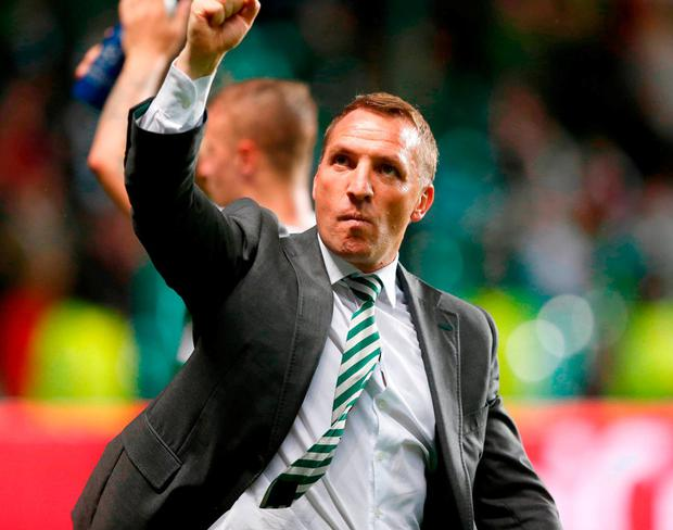 Former Liverpool manager Brendan Rodgers may now benefit from a defeat for his former club. Photo: Jeff Holmes/PA Wire