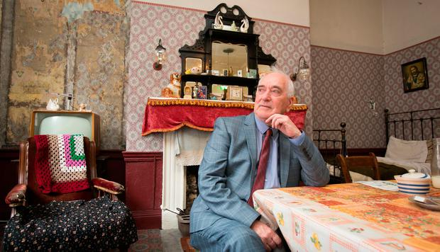 Peter Brannigan, a former resident of 14 Henrietta Street, during the opening of the Tenement Museum in Dublin. Photo: Gareth Chaney