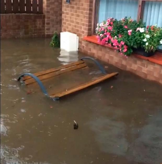 Flooding hit parts of Derry.