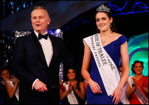 Offaly Rose Jennifer Byrne who was crowned as the 2017 International Rose of Tralee at the Festival in Tralee Co Kerry. Pic Steve Humphreys 22nd August 2017